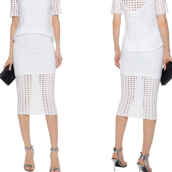 T by Alexander Wang Dresses & Skirts - T by Alexander Wang Eyelet Jacquard Jersey pencil